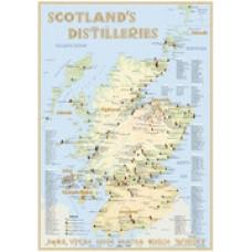 Χάρτης αποστακτηρίων  Σκωτίας 60 X 42 εκ.