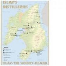 Χάρτης αποστακτηρίων  Islay 60 x 42 εκ.